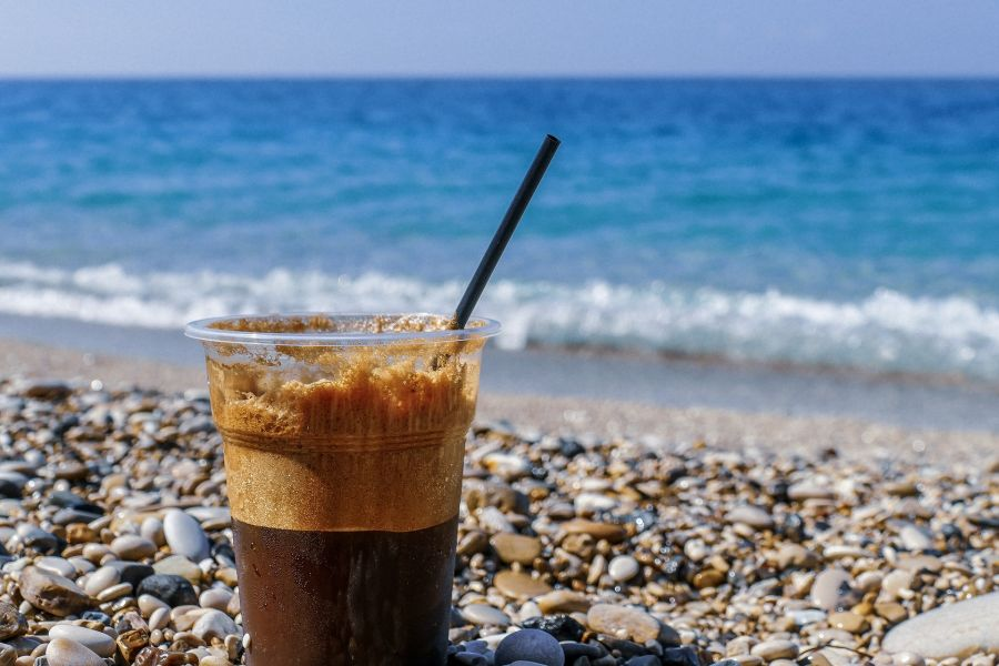 Cafea pe plaja