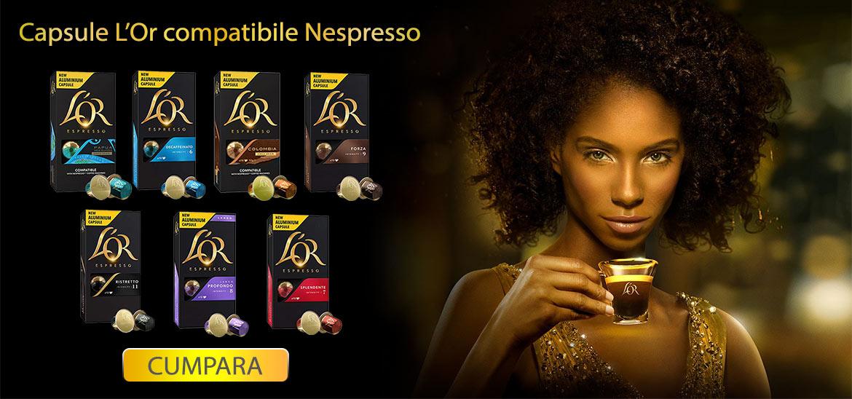 Incearca noile capsule L'Or compatibile cu sistemul Nespresso
