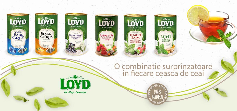 Relaxeaza-te cu sortimente de ceai Loyd din oferta CoffeePlace.