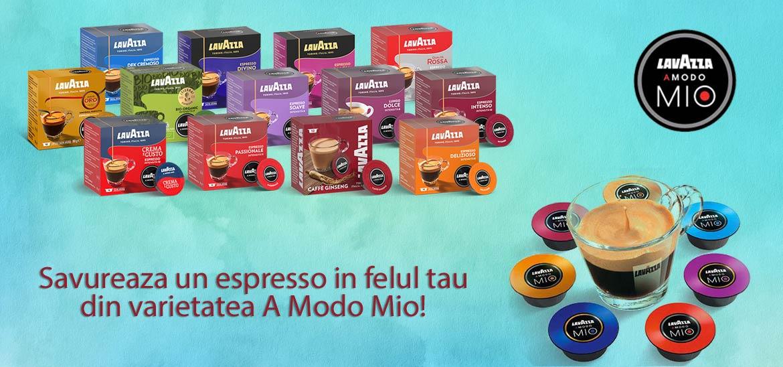 Exploreaza diversitatea capsulelor de cafea Lavazza A Modo Mio si gaseste-ti sortimentul preferat!