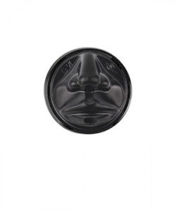 Capace pahare 8 oz (set 100 buc.) Smiley Face NEGRE