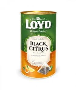 Loyd ceai Black Citrus 40 plicuri piramida