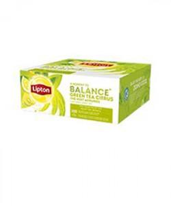 Lipton ceai verde cu lamaie 100 plicuri