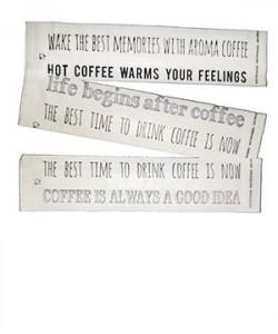 Palete cafea ambalate individual plastic 90mm (100 buc./set)