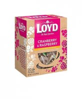 Loyd ceai piramida Cranberry&Raspberry 20 plicuri