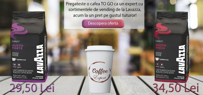 Pregateste o cafea TO GO ca un expert cu sortimentele de cafea vending de la Lavazza.