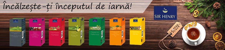 Incalzeste-ti inceputul de iarna cu un ceai Sir Henry. Alege aroma preferata dintre: fructe de padure, coacazie, menta, musetel, portocale