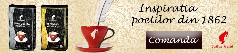 Descopera noile sortimente de cafea Julius Meinl - inspiratia poetilor inca din anul 1862.